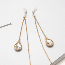 Fashion Womens Gold Eyeglass Eyewear Sunglasses Reading Glasses Chain Cord Holder Neck Strap Rope Crystal Pendant