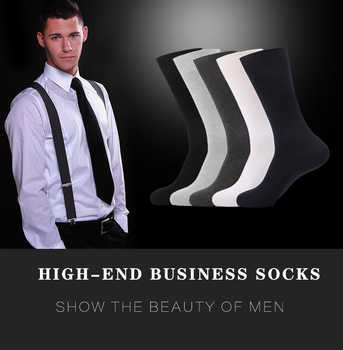100% Cotton Business Casual Soft Socks Crew Men Ankle Dress Breathable Soft White Black Long Socks 5 Pairs - DISCOUNT ITEM  34 OFF Underwear & Sleepwears