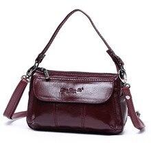 Новые модные из натуральной кожи мини Повседневное сумка Для женщин Креста тела сумки на плечо Дамы Сумка Для женщин сумки сумочка