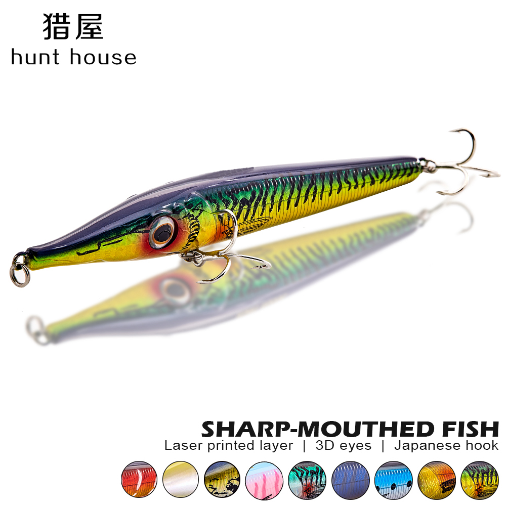 New fishing lure pencil lures long cast popper swimbait floating stickbait for fishing bass pike zandar topwater bluefish leurre