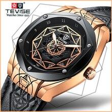 TEVISE Модные мужские автоматические часы с светящийся Топ бренд класса люкс Скелет механические часы мужские механические наручные часы