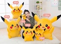 1 Piece Hot Sale 100cm Giant Pikachu Plush Toys Very Cute Pokemon Plush Toys Animal Doll For Children's Gift Free Shipping