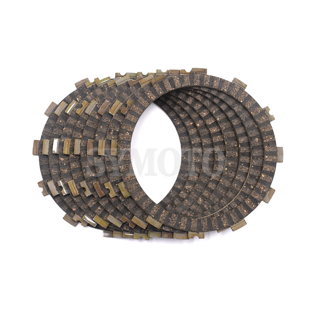 8 pcs Motorcycle Clutch Friction Plates disc For For Honda CR250R 1990-2007 CR500R 1990-2001 CR 250R 500R Vintage Motocross