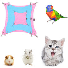 Hammock Pet Hamster Rat Parrot Ferret Hamster Hanging Bed Cushion House Cage(China)
