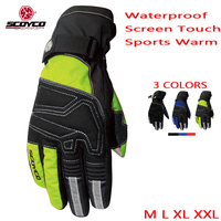 Motorcycle Winter Gloves Scoyco Guantes Moto Waterproof Motocross Luvas Sports Warm Outdoor Ski Men Women Motorbike