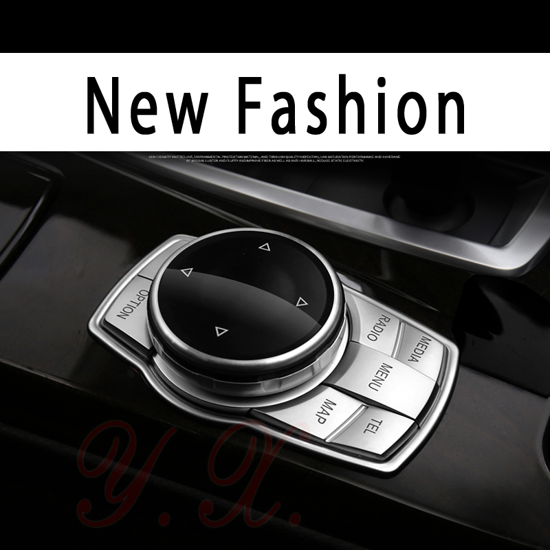 Sticker For BMW Multimedia Button Trim Decorative Cover Sticker For BMW F10 F20 F30 E60 E90 X1 X3 X5 X6 1 3 5 Series Accessories