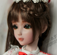 FULL SET Top quality 60 cm pvc doll 1/3 girl bjd wig clothes shoes all included ! night lolita Cherry reborn baby doll best art