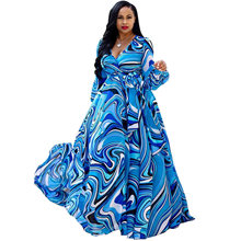 Женское шифоновое платье с цифровым принтом kakan2019 пляжное