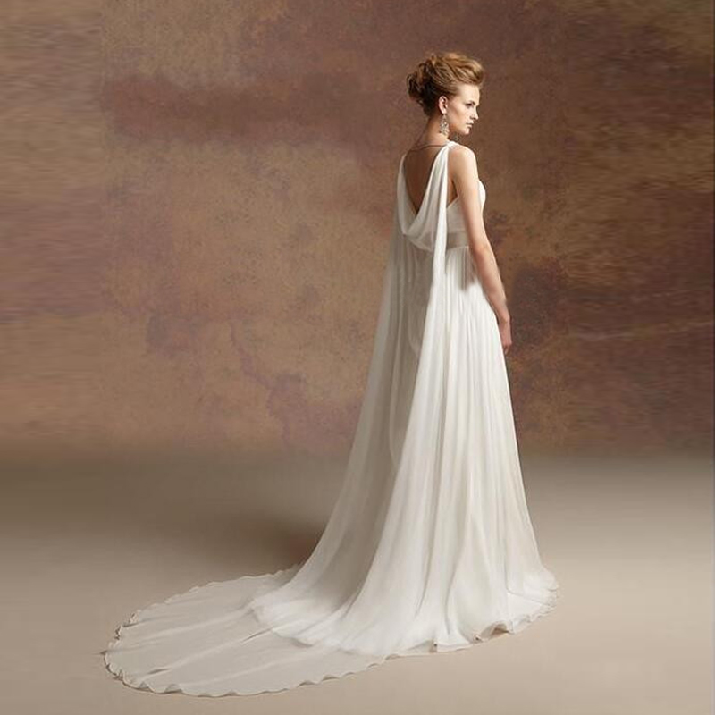 Greek Style A Line Chiffon Wedding Dress 2017 Simple Sash Spaghetti Straps  Sweetheart Bridal Gowns Robe mariee blanche-in Wedding Dresses from Weddings  ... 00f84983073d