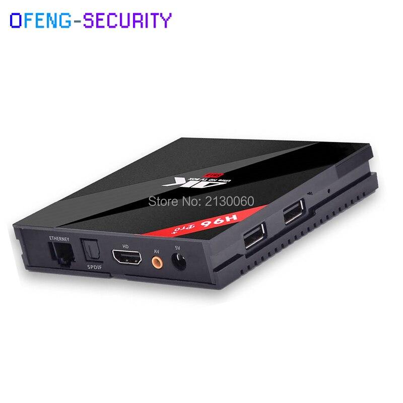 H96 PRO Plus Android 7.1 TV Box Amlogic S912 Octa Core 3G 32G 2.4GHz Wifi H.265 4K Ott Tv Box