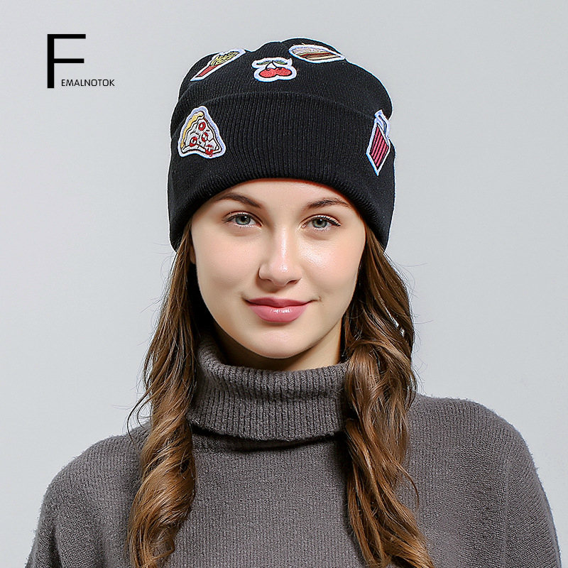 Autumn and winter women hats high quality brand designer warm knitted hat fashion beanie for women fashion printed skullies high quality autumn and winter printed beanie hats for men brand designer hats