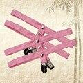 Pink nuevo goth pastel ligas Harajuku remache corazón liguero arnés de cuerpo de baile clip de pico de pato de los vestidos medias de la pierna garter