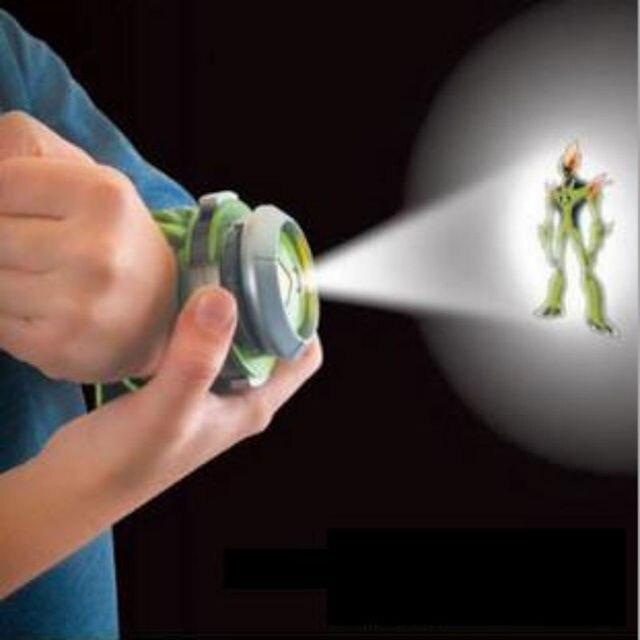 1 Шт. Бен 10 Стиль Япония 3D Светодиодный Проектор Часы детей Мультфильм Часы для Детей Детские Игрушки Мультфильм Слайд-Шоу Высокого качество