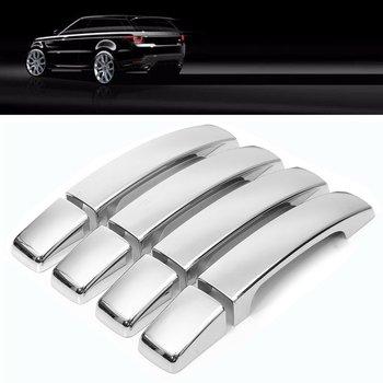 8 Pcs ABS Chrome Door Handle Covers para Range Rover Sport Encontrado Freelander 3/4 2006 2007 2008 2009 2010