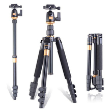 Free Ship QZSD Q555 Pro Portable Aluminum Digital Camera Tripod Monopod With Ball Head for DSLR Camera Travel Tripod