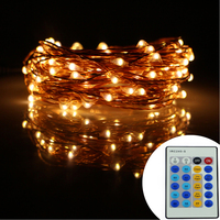 33Ft 10m 100 Leds Copper Wire LED String Lights Starry Lights Decoration Christmas Fairy Lights 1A