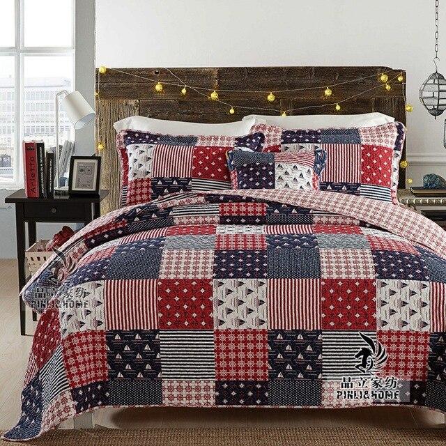 Abbiemao plaid patchwork couvre lit air conditionné