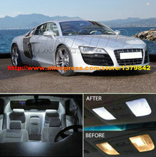 Gratis Verzending 8 Stks/partij 12 v auto-styling Wit/Blauw Pakket Kit Interieur Led Voor Audi Coupe of Convertible(China)