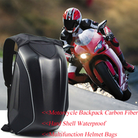 OGIO Dain Black Waterproof Motorcycle Bag Waterproof Motorcycle Backpack Touring Luggage Bag Motorbike Bags Moto Hard Shell Bags