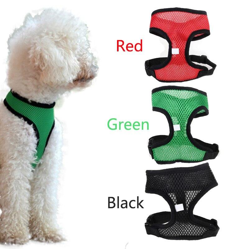 1 Pcs Ademende Mesh Kleine Hond Pet Harness En Leash Set Puppy Kat Vest Harnas Kraag Voor Chihuahua Pug Bulldog Pet Sml Xl Keuze Materialen