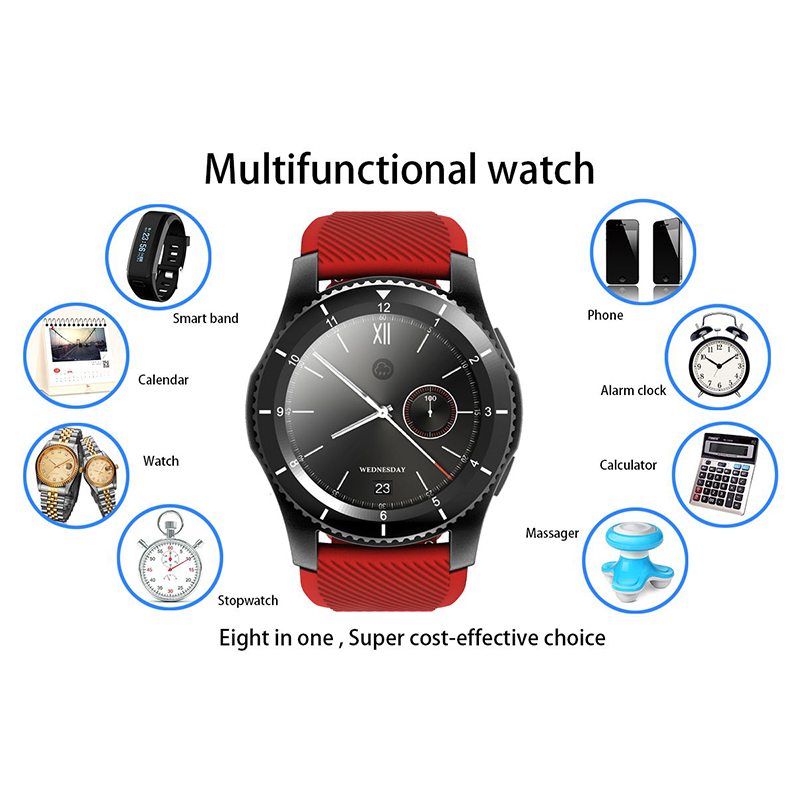 G8 SIM Smart Watch Man Bluetooth Call Message Reminder Heart Rate Monitor With Whatsapp Facebook Bluetooth 1 39inch in Smart Watches from Consumer Electronics