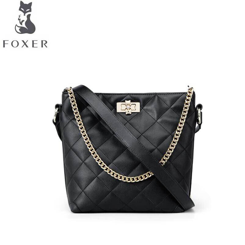 FOXER luxury fashion small fragrance female 2019 new fragrance grandma hippie bag large capacity bucket bag wandering bag should