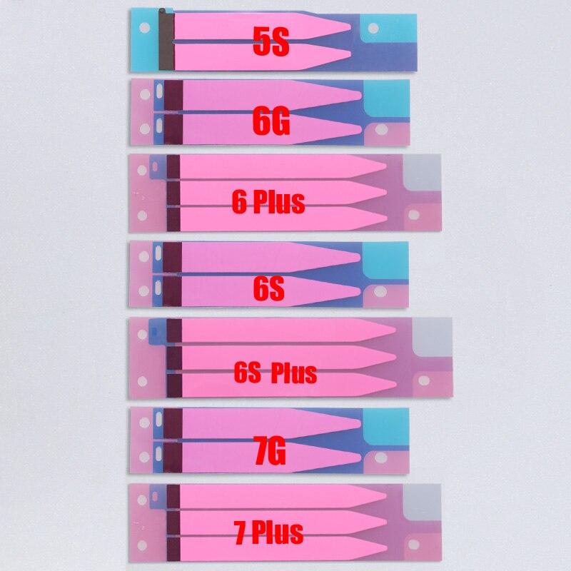 """imágenes para 100 unidades de la batería tira de cinta de pegamento adhesivo pegatina para el iphone 5s 5c 6 7 7G 6 S 4.7 """"y Para el iphone 6 Plus 5.5"""" reemplazo"""