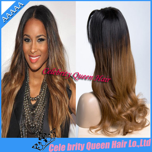 US $143.0 |Ombre full lace wig/lace front