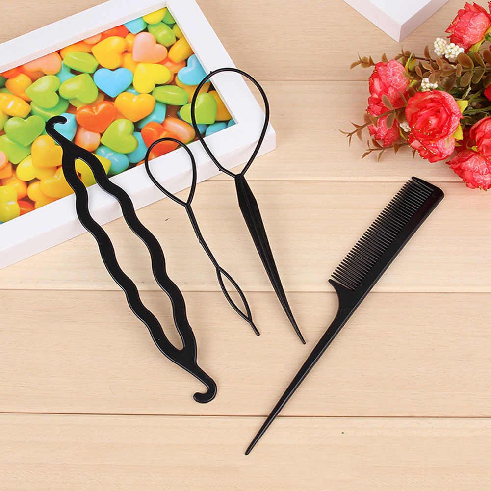 New 4 cái/bộ Món Ăn tóc công cụ Phổ Biến lược di động đĩa tóc tóc pin để mặc tóc dính món ăn phù hợp với tóc