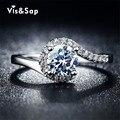 Посеребренные кольца для женщин старинных украшений AAA CZ бриллиантовое обручальное свадьба bague для женщин бижутерии горячий стиль VSR049