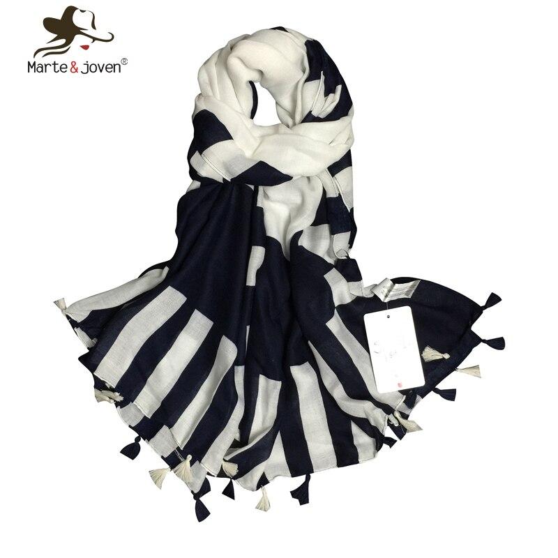 Europe America simple style stripe scarves Korean version tas
