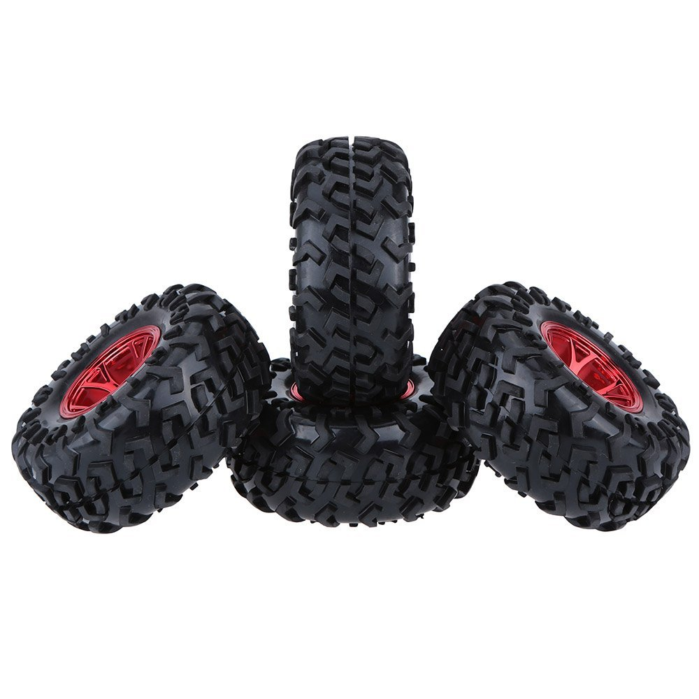 MACH 4Pcs 1/10 Monster Truck Tire Tyres for Traxxas HSP Tamiya HPI Kyosho RC Model Car 4pcs aluminum alloy 52 26mm tire hub wheel rim for 1 10 rc on road run flat car hsp hpi traxxas tamiya kyosho 1 10 spare parts