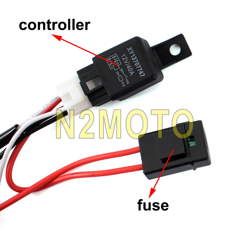 Aliexpress.com : Buy Car Auto LED HID Spotlight Wire Harness 12V 40A Relay  2.5M Fog Light Wiring Loom Harness Kit Fuse Controller Cable from Reliable  cable ...