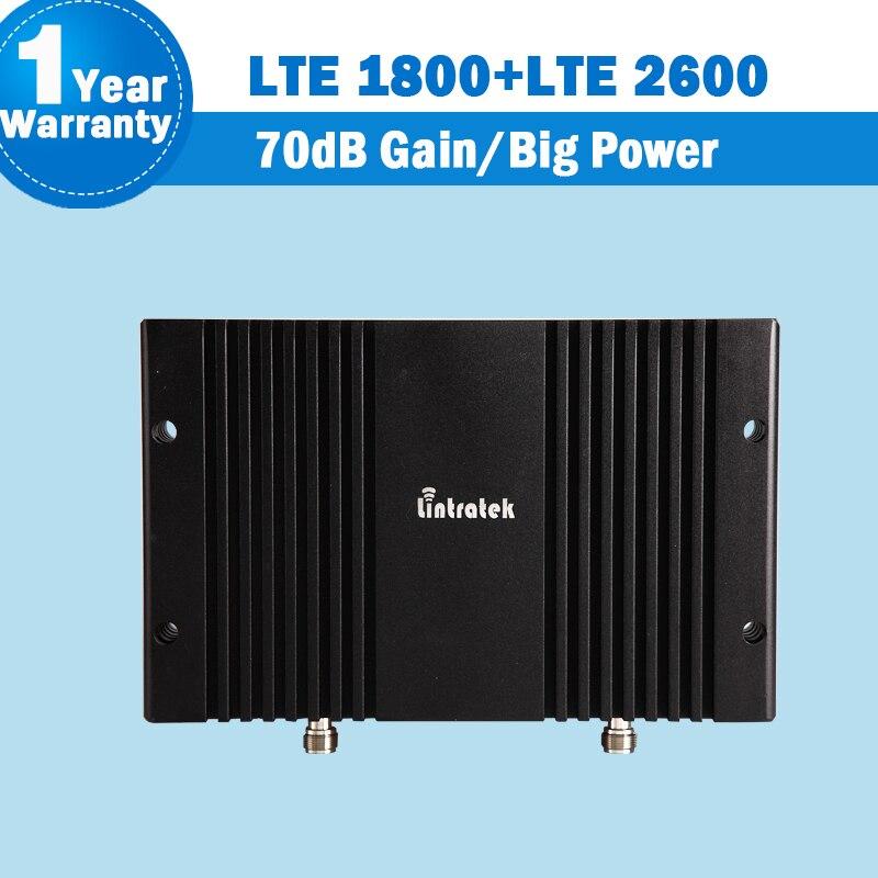 4 г LTE 1800 2600 сигнал repeater 70db усиления GSM 1800 LTE 2600 группа 7 LTE 1800 группа 3 двойной мобильный телефон диапазона Усилители домашние Booster Большой усили...