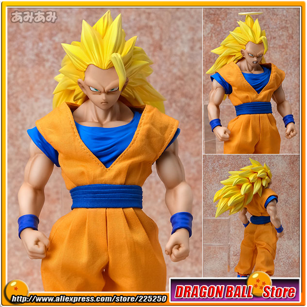 Japan Anime Dragon Ball Z Original MegaHouse MH Dimension of DRAGONBALL / D.O.D Complete Figure - Son Gokou Super Saiyan 3 anime dragon ball super saiyan 3 son gokou pvc action figure collectible model toy 18cm kt2841