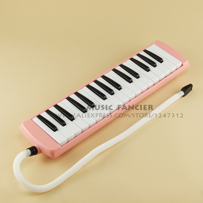 High-Quality BEE BM-32K <font><b>32</b></font> <font><b>key</b></font> <font><b>Melodica</b></font> Student <font><b>Melodica</b></font>/pianica PINK (With carrying bag,cleaning cloth..) Gift of choice image