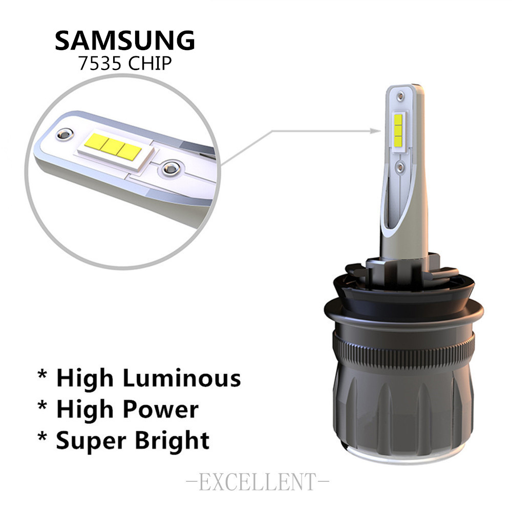 2x Car RGB LED car Headlight H1 H3 H4 H7 H8 H11 9005 9006 H13 9012 5202 LED Bulbs APP Bluetooth Control Multi color 50W 7200LM - 3