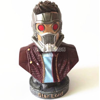 23 CM Avengers 3 Infinity War Star Lord Action Figure Superhero Star Lord Resin Bust Peter Jason Quill Model Figures Statue Gift