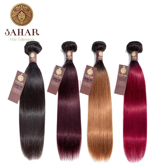 Sahar Brazilian Human Straight Hair Extensions 100% Human Hair Bundles 1 Piece Weave 12-24inch Natural Color Remy Hair bundle 1