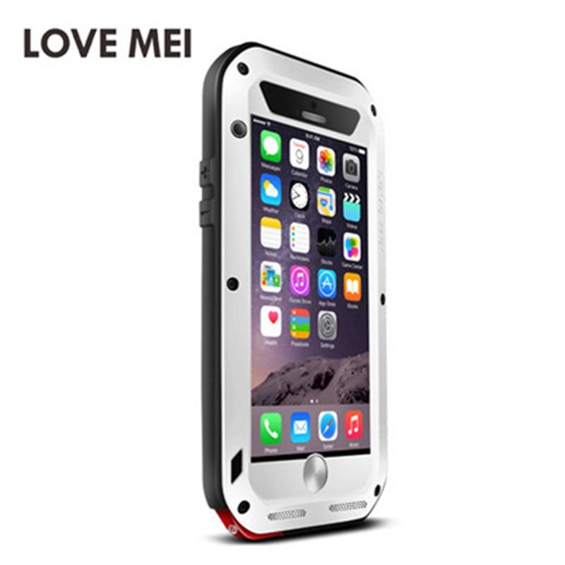 LOVE MEI étui pour iPhone 6 s en aluminium en métal Plus armure antichoc vie couverture étanche pour iPhone 6 s Capa housse de téléphone - 3