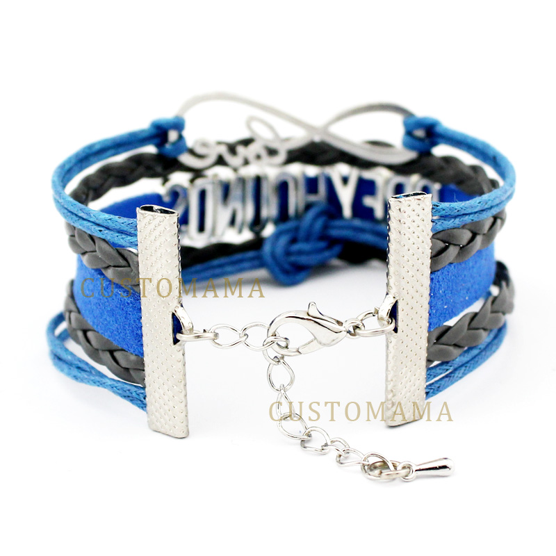(10 pcs/lot) Infinity Love Social Work Heart Charm Bracelets Gifts Women Men Girl Bracelet Turquoises Leather Custom Jewelry