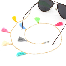 Colorful String Tassel Link Chain Eyeglasses Chains Reading Glasses Sunglasses Strap Cord Holder Nec