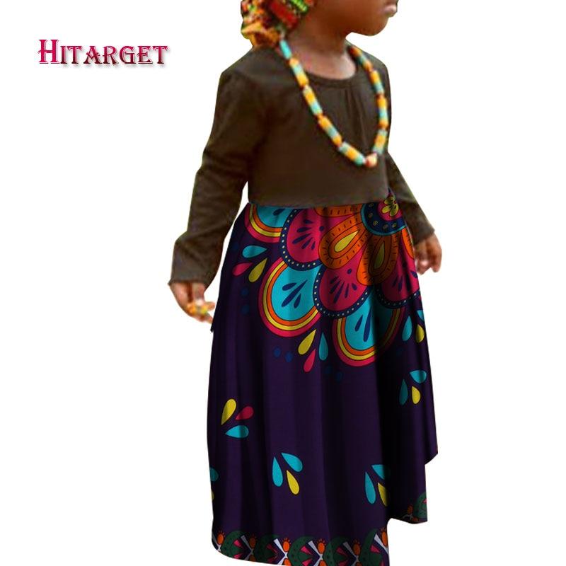 2018 Herbst Afrikanischen Kleid Für Kinder Kinder Dashiki Traditionellen Baumwolle Passende Afrika Print Mädchen Africanskirt Und Kopftuch Wyt73 QualitäTswaren