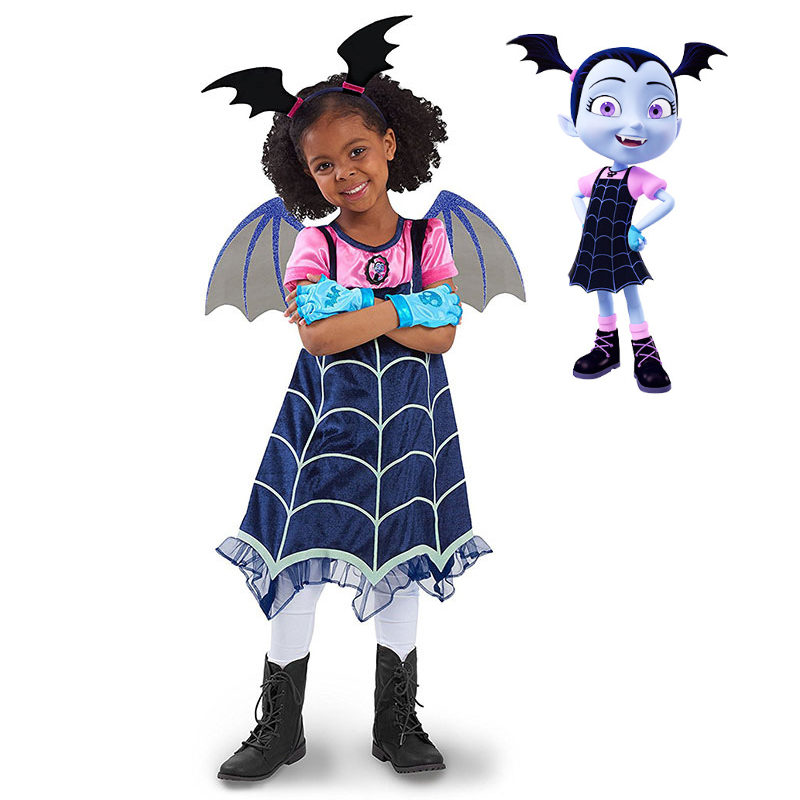 cosplay  costumes Carnival Christmas costumes summer Lace Dress dress Cosplay Fantasy Dresses Clothing Girls Vampirina Costume