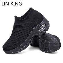 LIN KING Big Size Women Casual Shoes Bre