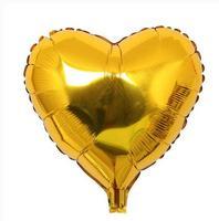 18 дюймов золотое сердце шар День рождения Аксессуары Фольга Шарики Globos детей Игрушечные лошадки