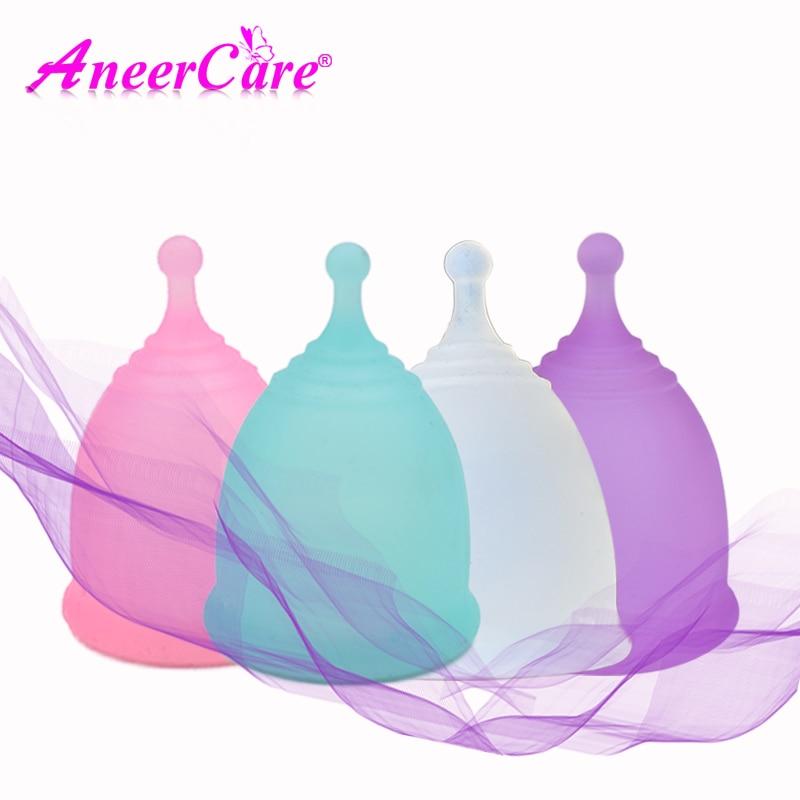 1pcs Feminine Hygiene Menstrual Cup Medical Grade Silicone Copo Menstrual de Silicone Medica Reusable Menstrual Cup-in Feminine Hygiene Product from Beauty & Health