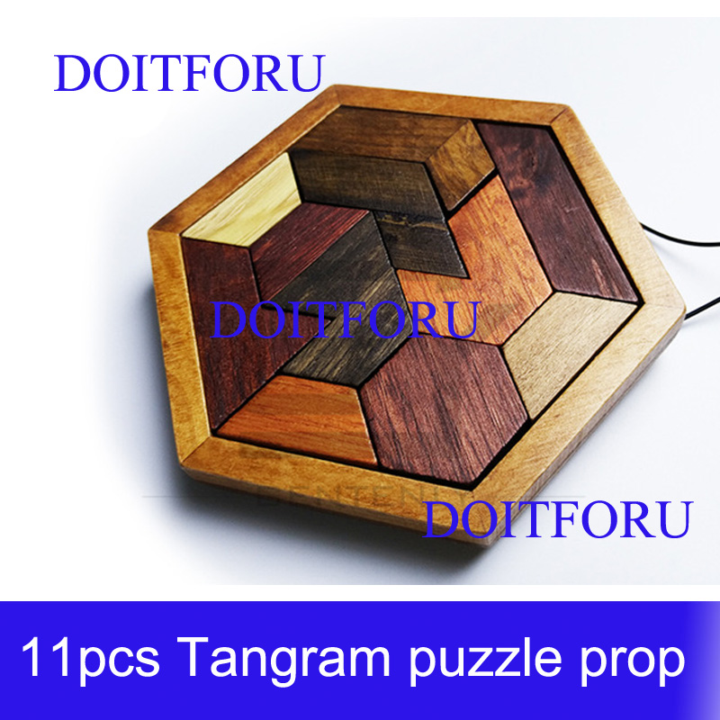 Escape Room Props For TAKAGISM Game Tangram Prop For Escape Game Finish Jigsaw Puzzles To Unlock 12V EM Lock Real Life Adventure
