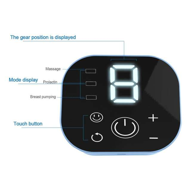 Dispositivo automático de extracción de leche Ajuste de 9 velocidades Anti-reflujo