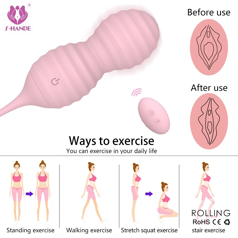 SHD Wireless Remote Control Silicone Kegel Ball Vaginal Tight Exercise Love Egg Vibrators Sex Products Sex Toys for Women himabm 1 pcs natural jade egg for kegel exercise pelvic floor muscles vaginal exercise yoni egg ben wa ball